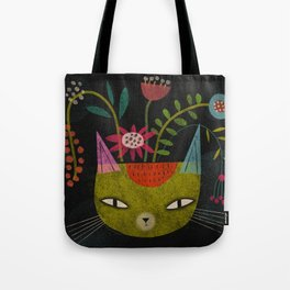 FLOWER FELINE Tote Bag