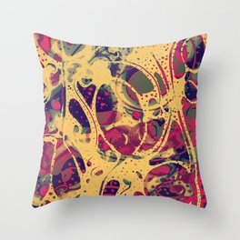 """Chlorine"" by Schizophrenic.NYC Throw Pillow"