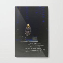 regina spektor live in toronto - on the radio Metal Print
