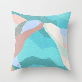 Dolphin Kiss in Grainy Earthtone Throw Pillow