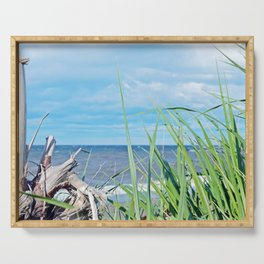 Through Grass and Driftwood Serving Tray