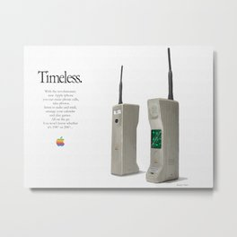 1987 iphone advert 2 Metal Print