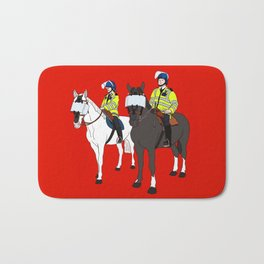 London Metropolitan Horse Cops Bath Mat