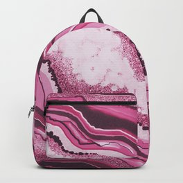 Pink Agate Geode Gemstone Backpack