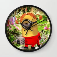 minion Wall Clocks featuring MINION by DisPrints