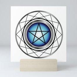 Glowing Pentagram Mini Art Print