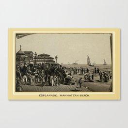 Coney Island - Esplanade, Manhattan Beach  Canvas Print