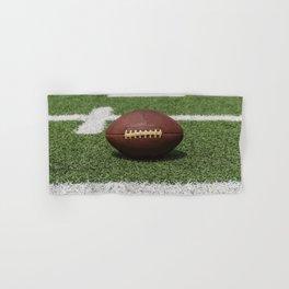 American Football Court with ball on Gras Hand & Bath Towel
