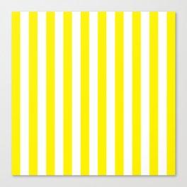Vertical Yellow Stripes Canvas Print
