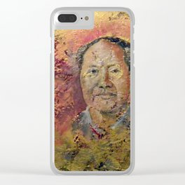 Mao Tse Tung Clear iPhone Case