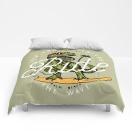 Dinosaur Surfer Comforters