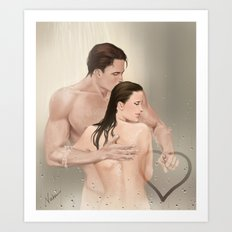 steamy picture Art Print