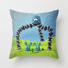 Carrot - fimo version Throw Pillow