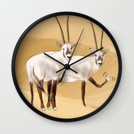 Arabian Oryx Wall Clock