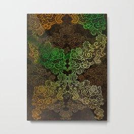 lace cascade green Metal Print