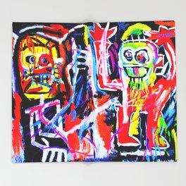 Basquiat's Dustheads Throw Blanket