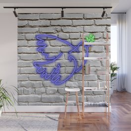Peace Pigeon Brick- The Copy is a Hommage Wall Mural