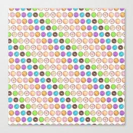 Watercolor Donuts Canvas Print
