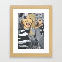 CL & DARA SELFIE Framed Art Print