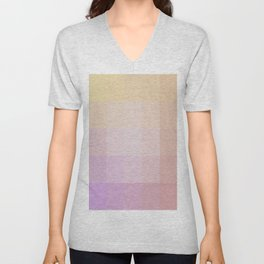 Pixel Gradient between Soft Yellow and Grayish Red Unisex V-Neck
