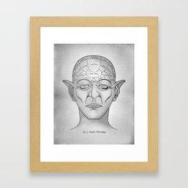 Vampire Phrenology Framed Art Print