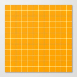 Marigold Grid Canvas Print