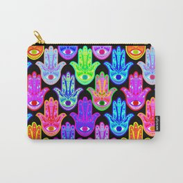Bohemian Hamsas in Black Carry-All Pouch
