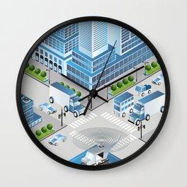 Urban crossroads Wall Clock