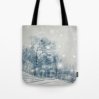 outdoor Tote Bags featuring Outdoor Theater by Artist pIL