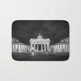 BERLIN Brandenburg Gate | Monochrome Bath Mat