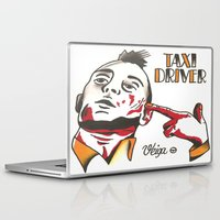 taxi driver Laptop & iPad Skins featuring Taxi Driver #3 by @VEIGATATTOOER