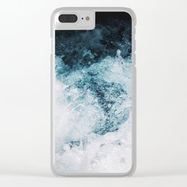 Blue Swells Clear iPhone Case