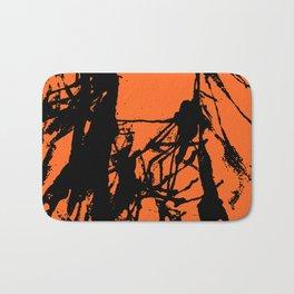 Orange Base black Bath Mat