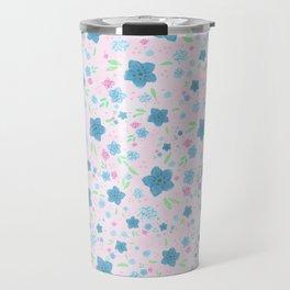 Forget Me Nots - Pink Travel Mug