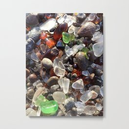 Glass beach California Metal Print