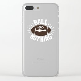 B\LL OR NOTH/NG Clear iPhone Case