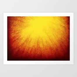 Linear Radial Sunset Art Print