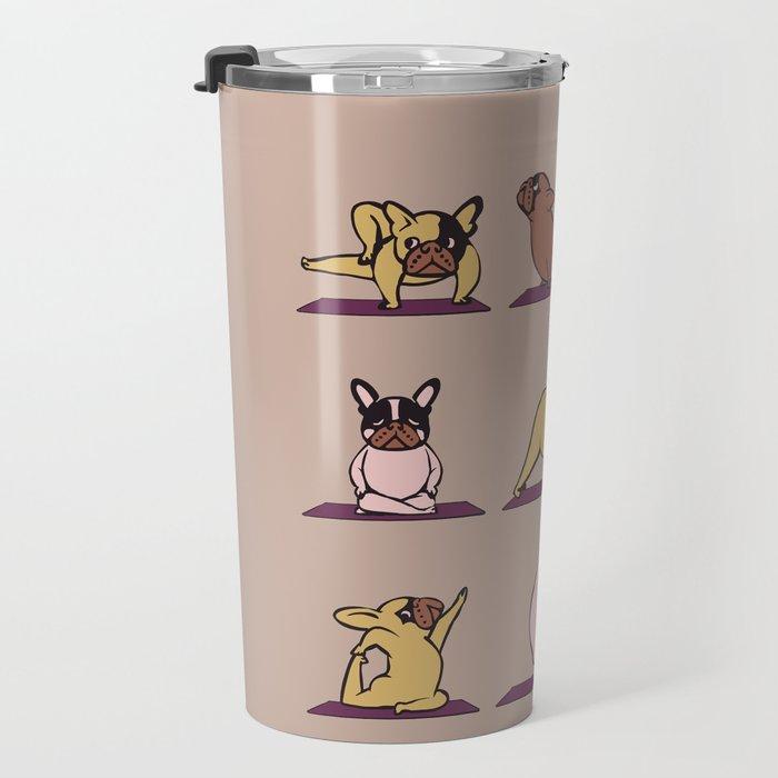 French Bulldog Yoga Travel Mug