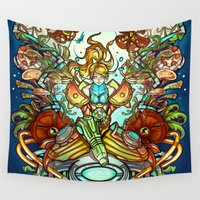 metroid Wall Tapestries featuring Maternal Instinct by Emilie Boisvert