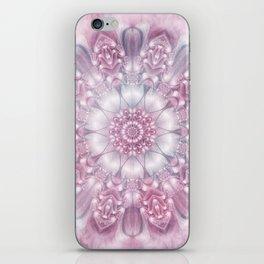 Dreams Mandala in Pink, Grey, Purple and White iPhone Skin