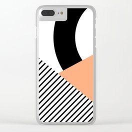 Geometrical shapes 2 Clear iPhone Case