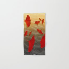 Red Ginko Hand & Bath Towel