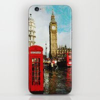 england iPhone & iPod Skins featuring London, England by Abby Gracey