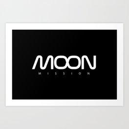 MOON mission Art Print