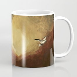 Winged horse with seagull - Silver Stream Children's Book illustration Coffee Mug