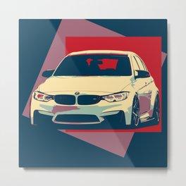 BMW 3SERIES ILUSTRATION Metal Print