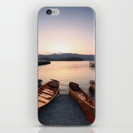 Rowing boats at Bowness, Windermere in the Lake District iPhone Skin