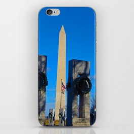 Washington Monument as seen from WWII Memorial iPhone Skin