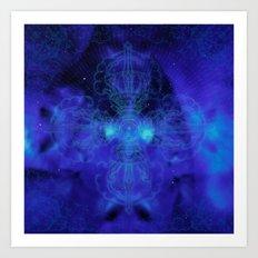 Tibet. Blue Meditation Art Print