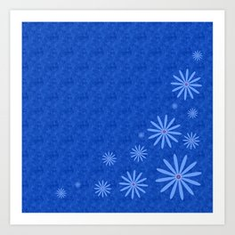 Fleurs Bleues Art Print